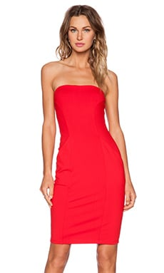 Cameron Strapless Dress in Perfect Red