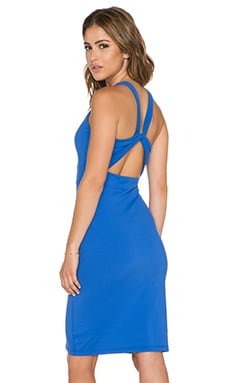 Susana Monaco Twist Back Dress in Topaz