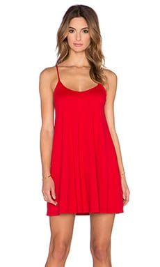 Susana Monaco V Neck Mini Dress in Perfect Red