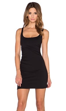 Susana Monaco Gathered Tank Dress in Black