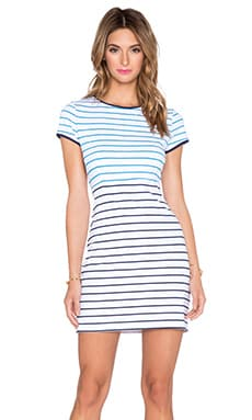 Susana Monaco Popi Striped Midi Dress in Inkwell & Seascape