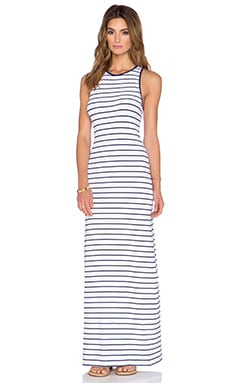 Susana Monaco Striped Racerback Maxi Dress in Inkwell