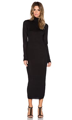 Susana Monaco Robin Long Sleeve Sweater Dress in Black