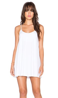 Susana Monaco V Neck Mini Dress in Sugar