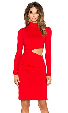 Theda Dress in Perfect Red