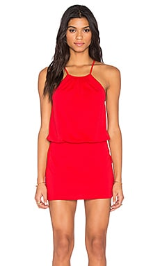 Susana Monaco Drape Mini Dress in Perfect Red