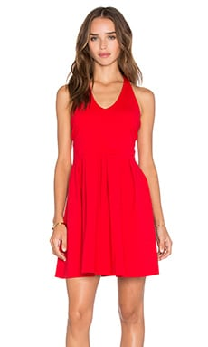 Raine Dress in Perfect Red
