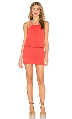 Drape Mini Dress in Cactus Pear