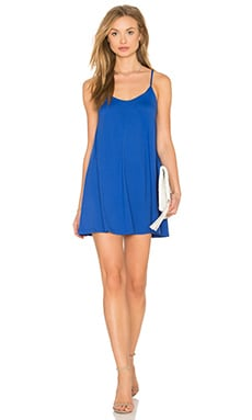 Very V Drape Mini Dress en Lapis