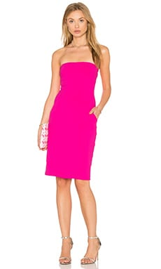 Cameron Strapless Dress in Pink Glo