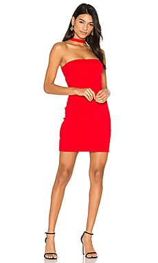 x REVOLVE Elena Dress en Rouge Parfait