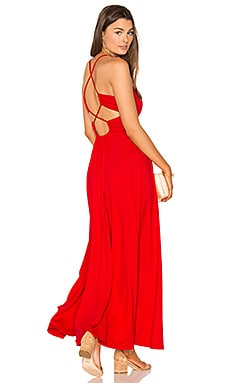 Phaedra Maxi Dress in Perfect Red