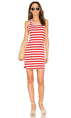 Racer Dress in Perfect Red & Sugar
