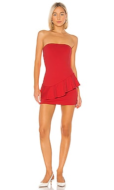 Strapless Cross Ruffle Dress Susana Monaco $207