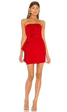 Spiral Ruffle Mini Dress Susana Monaco $208