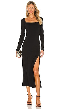 Square Neck Slit Dress Susana Monaco $188