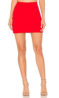 Slim Skirt in Perfect Red