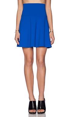 Susana Monaco High Waist Flare Skirt in Sapphire