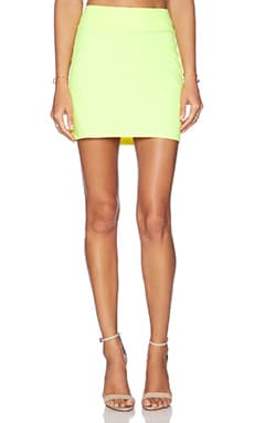 Susana Monaco Slim Skirt in Neon