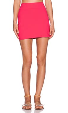 Susana Monaco Mini Skirt in Hibiscus Flower