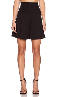 Susana Monaco High Waist Flare Skirt in Black