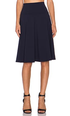 Susana Monaco High Waist Flared Skirt in Midnight