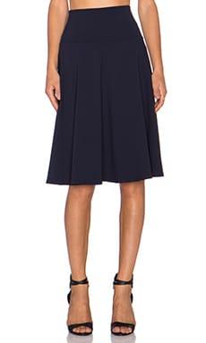 Susana Monaco High Waist Flared Skirt in Midnight