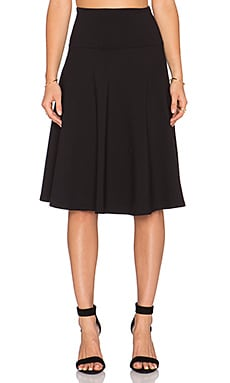 Susana Monaco High Waist Flared Skirt in Black