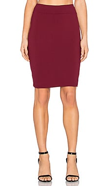 Susana Monaco Pencil Skirt in Beaujolais