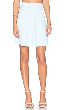 Susana Monaco High Waist Flared Skirt in Blue Grotto