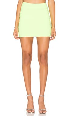 Slim Skirt in Neon Lime