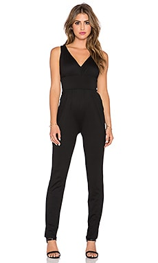 Susana Monaco Gathered Jumpsuit in Black