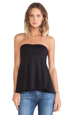 Susana Monaco Tube Flare Top in Black