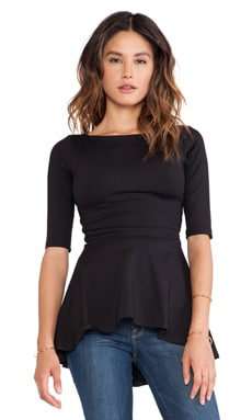 Susana Monaco Low Back Flare Top in Black