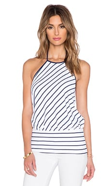 Susana Monaco Striped Halter Top in Inkwell