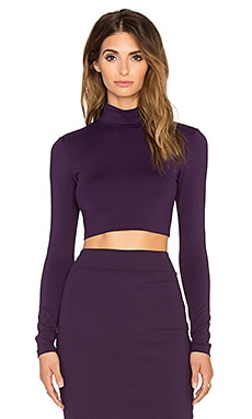 Susana Monaco Turtleneck Crop Top in Regal