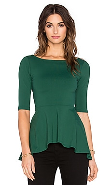Susana Monaco Low Back Flare Top in Pine Tree
