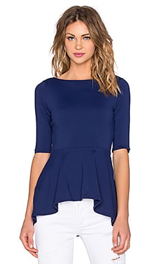 Susana Monaco Low Back Flare Top in Inkwell