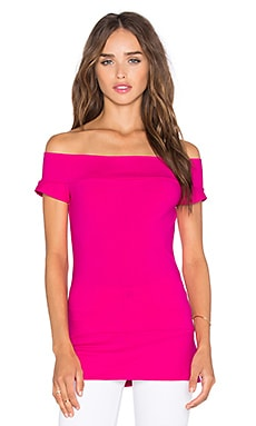 Susana Monaco Band Off Shoulder Top in Pink Glo