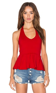 Margot Top in Perfect Red