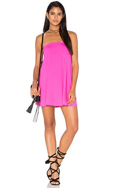Tube Drape Tunic in Pink Glo