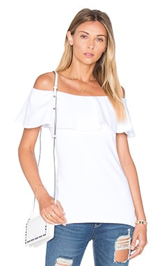 Ruffle Off Shoulder Top in Sugar