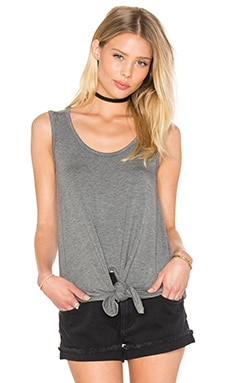 Scoop Tie Tank en Cloud Heather