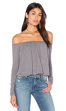 Molly Off Shoulder Top in Pigeon
