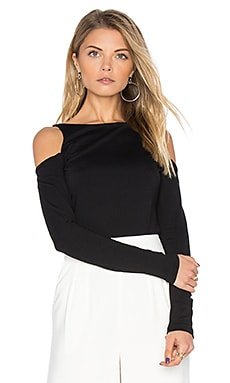 Avery Long Sleeve Top in Black