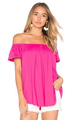Купить Топ со спущенными плечами larina - Susana Monaco, Со спущенным плечом, США, Розовый