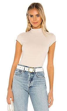 Mock Neck Short Sleeve Tee Susana Monaco $98