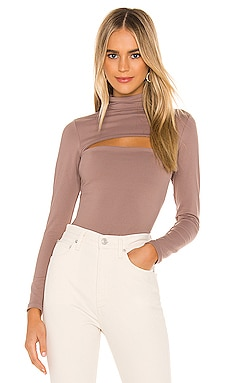 X REVOLVE Mock Neck Slash Top Susana Monaco $104