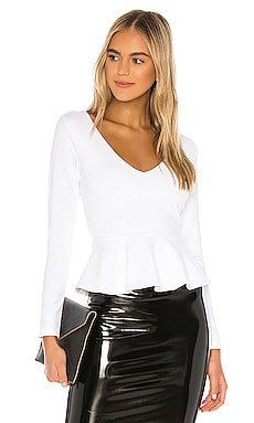 Long Sleeve Peplum Blouse Susana Monaco $189