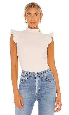 Ruffle Mock Neck Top Susana Monaco $128